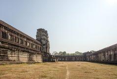 Widok Drugi ściana, Angkor Wat, Siem Riep, Kambodża Obrazy Stock