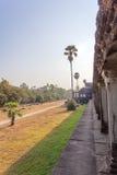 Widok Drugi ściana, Angkor Wat, Siem Riep, Kambodża Zdjęcia Royalty Free