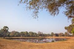 Widok Drugi ściana, Angkor Wat, Siem Riep, Kambodża Fotografia Royalty Free