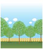 Widok drzewa ilustracja wektor