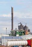 Widok duża rafineria ropy naftowej zdjęcie stock