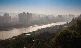 Widok duży nowożytny miasto obraz royalty free