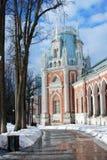 Widok Duży pałac w Tsaritsyno parku w Moskwa Zdjęcie Stock