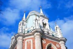 Widok Duży pałac w Tsaritsyno parku w Moskwa Obrazy Stock