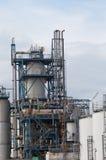 Widok duży rafineria ropy naftowej zdjęcie royalty free