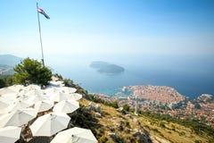 Widok Dubrovnik Riviera zdjęcia stock