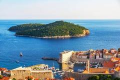 Widok Dubrovnik stary miasteczko zdjęcia royalty free