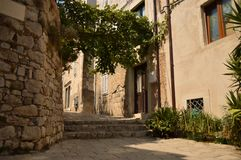 Widok Dubrovnik ulica zdjęcie royalty free