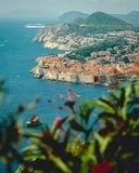 Widok Dubrovnik zatoka zdjęcie royalty free