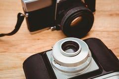 Widok dwa starej kamery Obrazy Royalty Free