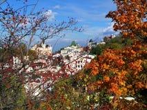 Widok dziejowy centrum Kijów, jesień Fotografia Stock