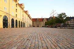 Widok Eigtveds pakhus w Christianshavn, Kopenhaga, Dani fotografia stock