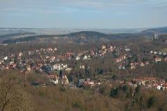 Widok Eisenach od Wartburg Fotografia Stock