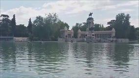 Widok El Retiro staw, Madryt zbiory wideo
