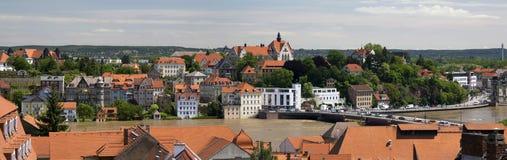 Widok Elbe rzeka Zdjęcia Stock