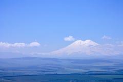 Widok Elbrus od góry Tau panorama Obraz Stock