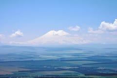 Widok Elbrus od góry Tau panorama Obraz Royalty Free