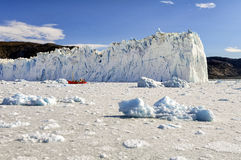 Widok Eqi lodowiec w Greenland Zdjęcie Royalty Free