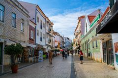 Widok Ericeira wioska w Portugalia Fotografia Stock