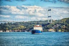 Widok Fatih sułtanu Mehmet azjata i mosta strona Bosphorus Zdjęcie Stock