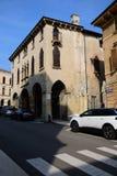 """Widok fifteenth wiek buduje Palazzo Cavalli w piazza dellâ⠂¬â """"¢Antenna, Soave obraz royalty free"""