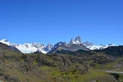 Widok Fitz Roy szczyt w Los Glaciares parku narodowym, El Chaltén, Argentyna Obrazy Royalty Free