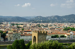 Widok Florencja podczas Obraz Stock