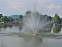Widok fontanna, zdroju park, Kudowa Zdroj Obraz Stock