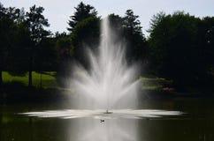 Widok fontanna, zdroju park, Kudowa Zdroj Obrazy Royalty Free