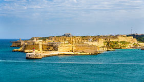 Widok fort Ricasoli blisko Valletta Obrazy Royalty Free