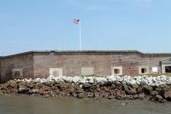 Widok fort Sumter od promu Zdjęcia Stock