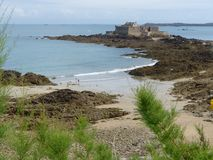 Widok fortu obywatel od Saint Malo Brittany, Francja obrazy royalty free