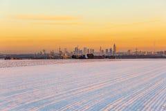 Widok Frankfurt magistrala w późnym popołudniu - Am - Zdjęcia Stock