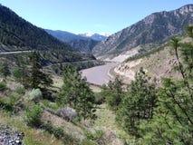 Widok Fraser rzeka od Hwy 1 Obrazy Royalty Free