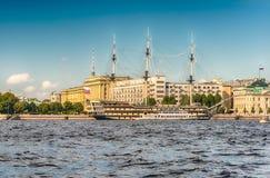 Widok fregaty gracja, St Petersburg, Rosja Obraz Royalty Free