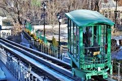 Widok funicular lokalizować blisko Potemkin schodków fotografia stock