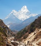 widok góra Ama Dablam Zdjęcia Royalty Free