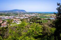 Widok góra Conero na Adriatyckim morzu Włochy Zdjęcie Stock