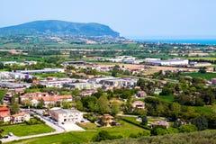 Widok góra Conero na Adriatyckim morzu Włochy Zdjęcia Stock