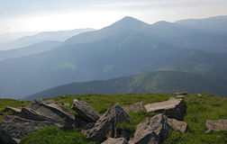 Widok góra Hoverla Obraz Stock