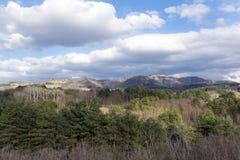 widok górski, góra krajobraz, Kaukaz Obrazy Stock