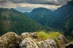 Widok górski, halna panorama, halna rzeka, wycieczka góry Zdjęcia Stock