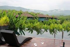 Widok górski intymny relaksuje w ranku Obraz Royalty Free