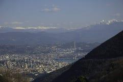 Widok górski losu angeles Spezia miasto Zdjęcie Royalty Free