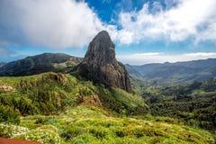 Widok górski na losu angeles Gomera wyspie Zdjęcia Royalty Free
