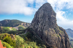 Widok górski na losu angeles Gomera wyspie Obrazy Stock