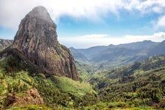 Widok górski na losu angeles Gomera wyspie Zdjęcie Royalty Free