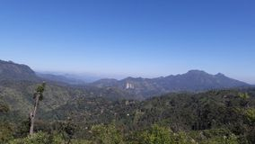 Widok górski natura & góry Obrazy Royalty Free