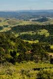 Widok górski od gospodarstwa rolnego w Cunha, Sao Paulo Pasmo górskie w t Obraz Royalty Free
