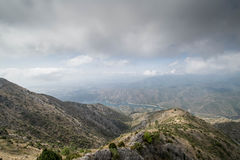 Widok górski od Marbella Fotografia Stock